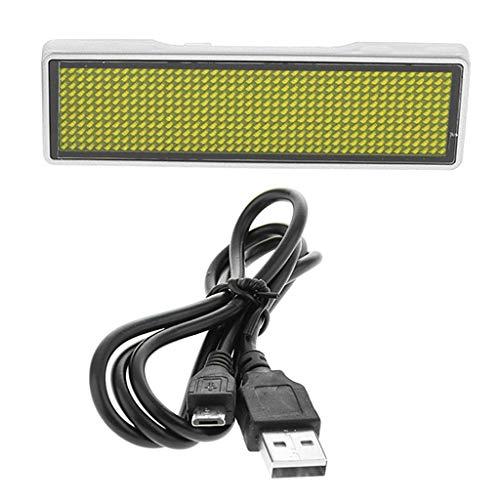 KESOTO Namensschild Display Board LED Scrolling Zeichen/Namensschild/Message Tag Anzeigetafel - Silber Muschelgelb