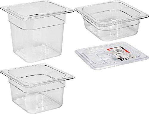 YATO Profi Polycarbonat GN Gastronormbehälter 1/6 Größen Auswahl 65-150mm auch Deckel Gastro Norm Behälter Kunststoff