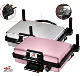 Silex Multigrill |Toester | Elektrogrill Maschine | Tischgrill | Silber | Pink