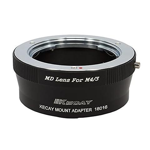 MD - M4/3, KECAY® Objektiv Mount Adapter Ring für Minolta MD MC SR Rokkor 35mm SLR Objektiv Adapterringe auf Micro 4/3 M4/3 Four Thirds System Kamera, Olympus PEN E-P1, P2, P3, P5, E-PL1, PL1s, PL2, PL3, PL5, PL6, E-PM1, PM2, OM-D, E-M5, E-M1, Panasonic Lumix DMC-GH1, GH2, GH3, GX7, G1, G2, G10, G3, G5, G6, GF1, GF2, GF3, GF5, GF6, GX1,