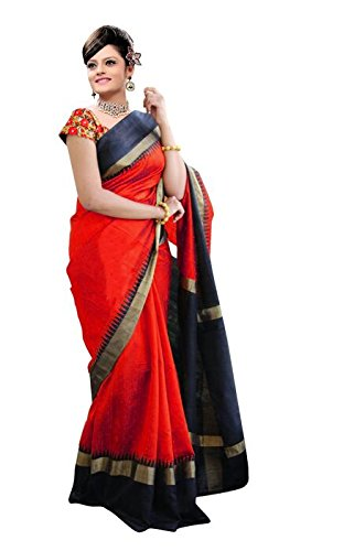 Kanchan Women Wedding Cotton Silk Saree For Ladies & Girls (Multi Coloured_Kindle)