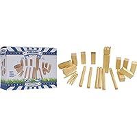 Kubb-Wurf-Geschicklichkeitsspiel-fr-Drauen-groes-Kupp-Set-aus-Holz