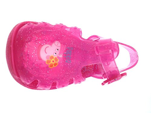 ee36b940fe3 Girls Pink Glitter Peppa Pig Jelly Sandals Beach Gladiators Jellies Mules  Clogs Kids Shoes Size UK 3-9