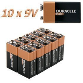 Duracell Plus MN1604batterie alcaline–9V/6LR61/e-block–10pezzi