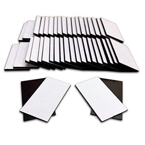 80selbstklebende Magnet Streifen 35x 20mm Lesezeichen, Craft quadratisch - Magnete Quadratische