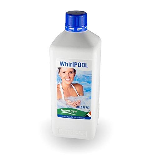 Huwa-San Whirlpool chlorfreie Wasserpflege und Desinfektionsmittel mit stabilisiertem Aktivsauerstoff (1L für 800L Poolinhalt)