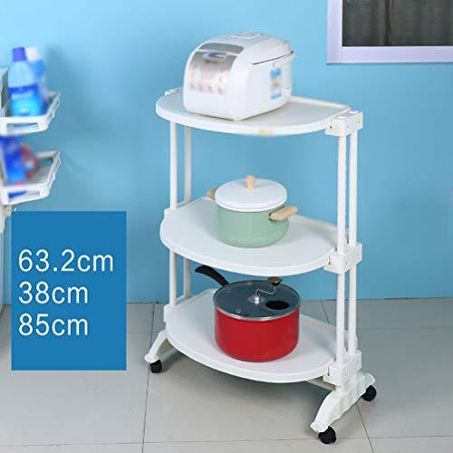 Kitchen furniture - Support amovible pour étagère d'appareils électriques multicouche de support de four à micro-ondes de grande capacité WXP (Couleur : Universal wheel)