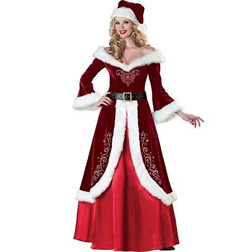 Fashion-Cos1 Deluxe samt weihnachtsmann kostüm für mädchen sexy Erwachsene Frauen Weihnachten kostüme neujahr kostüme Theme Party kostüm (Theme Batman Kostüme)