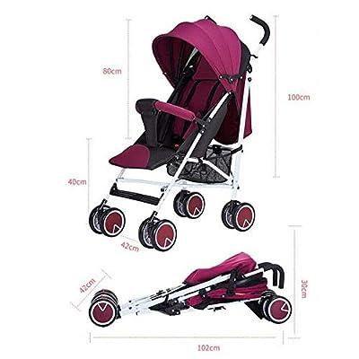 ZHAOHUIFANG Kinderwagen, Kann Sitzen Faltbare Tragbare Stoßdämpfer Ultraleichte Kinderwagen Kinderwagen Sitzen