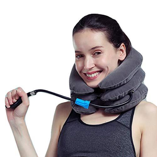 HLDUYIN Cervical Neck Traction Device - Hals Traktion Aufblasbare Halskragen Ist Optimal Für Chronische Nackenschmerzen Relief - Einstellbare Air Neck Brace