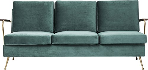 Kare Design Polstersofa Gamble 3-Sitzer, bequemes, modernes XL TV Loungesofa im Retro-Design mit Armlehnen, Grün (H/B/T) 78x179x75cm