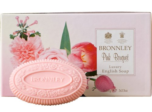 Bronnley Box of 3 x 100g Tablet Soaps Pink Bouquet