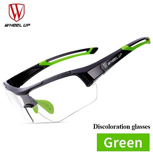 Fahrradbrille Unisex, Weant Polarisiert SportbrilleKlar Sonnenbrillen Männer Optische Sonnenbrille Für Herren und Damen Radsport Brille Für Reiten Fahren Angeln Laufen Sport-schutz Skibrille (Grün) (Skibrille Grün Damen)