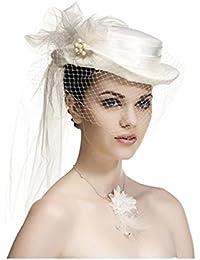 Joli chapeau de mariée avec voile