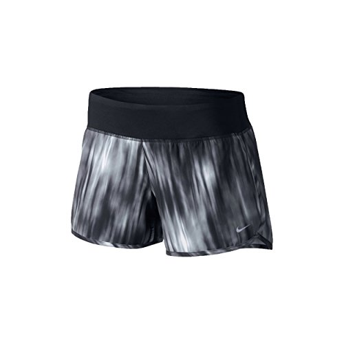 Nike Beinkleid Printed Rival 4 Zoll Shorts Women, schwarz, L, 618130-010 (Nike Rival Md)