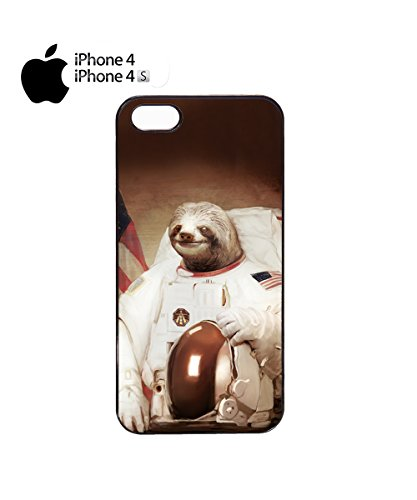 Funny Spaceman Astronaut Animal Cool Chill Bro Mobile Phone Case Cover iPhone 6 Plus + White Noir