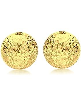 Carissima Gold Ohrstecker 9k (375) Gelbgold 8mm Diamant-geschnitten Halb Ball