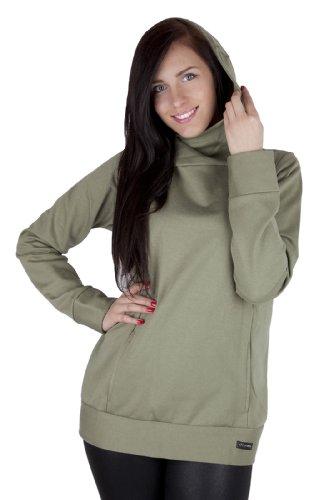Mija - Umstandsmode / Stillpullover / Warmer Pullover 100% Baumwolle 1101A Oliven