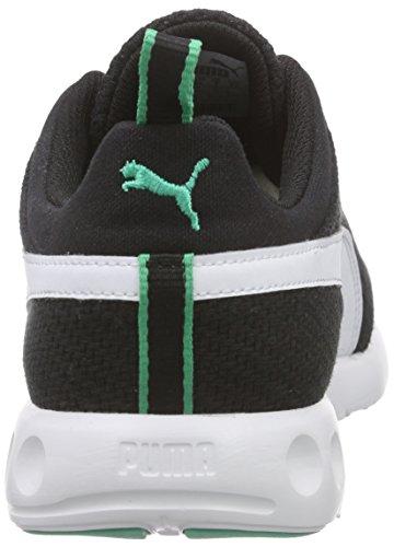 Puma Carson Runner CV, Chaussures de course mixte adulte Noir - Schwarz (black-white-mint leaf 03)
