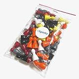 Pöppelmischung Halloween. Spielfiguren aus Holz für Brettspiele, besondere Farben, Halmakegel Gr. 12/24 mm, 60 Stück (6x10)
