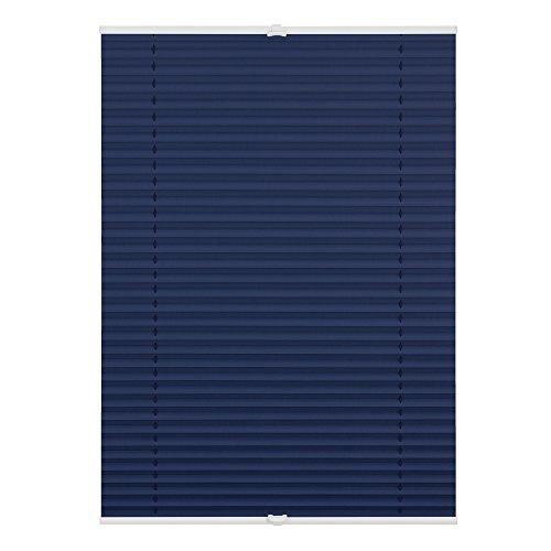 Lichtblick Thermo-Plissee Klemmfix, 100 cm x 130 cm (B x L) in Blau, ohne Bohren, reflektierende Thermofunktion, Verdunklung Fenster & Türen -