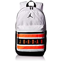 Nike Unisex-Child Jan Jumpman Taped Backpack, White/Infrared - NK9A0290-WR6