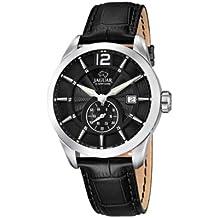 Jaguar Watches J663/4 - Reloj analógico de cuarzo para hombre con correa de piel, color negro