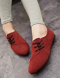 Zq-talons Des Femmes Chaussures Confort Cuir De Richelieus-casual-plan Bleu / Marron / Rose / Blanc / Beige, Blanc-us8 / Eu39 / Uk6 / Cn39, Blanc-us8 / Eu39 / Uk6 / Cn39