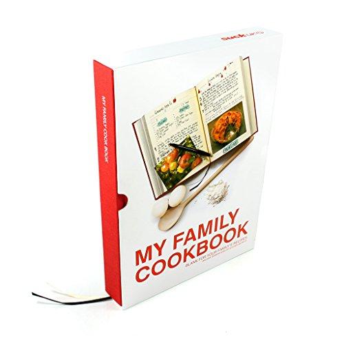 Suck UK My Family Recipe Book and Cooking Journal / Kochbuch für Familienrezepte und Kochtagebuch - mit Blanko Seiten zum aufzeichnen und archivieren Ihrer eigenen Rezepte - Rot -