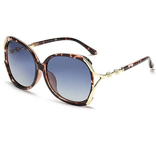 Wghz Große Rahmen-Mode polarisierte Damen-Sonnenbrille-Retro Art- und Weisefarbobjektiv-Sonnenbrillees 100% UV-Schutz