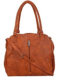 CFI Tan Synthetic Leather Shoulder / Sling Bag For Women / Girls