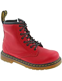 3d7e1552280 Dr. Martens Infants 1460 T Satchel Red Side Zip Soft Romario Leather Boots -UK