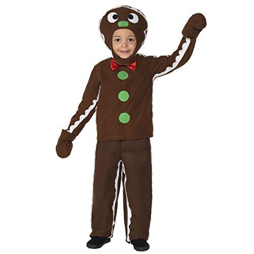 Kleiner Lebkuchenmann - Kleinkind und Kinderkostüm (UK 7-9 years) (Troll Kostüm Für Kleinkind)