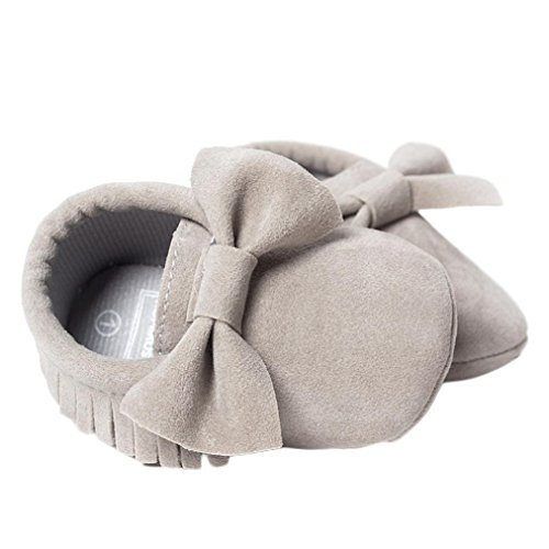 Omiky® Baby Krippe Quasten Sequins Schuhe Kleinkind Soft Sohle Turnschuhe Casual Schuhe Grau