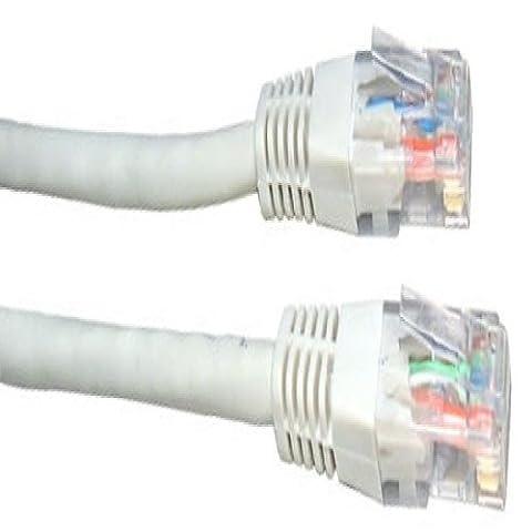 25m de câble réseau Blanc - qualité professionnelle - CAT5e (amélioré) - 100% fil de cuivre - RJ45 - Ethernet - Patch - sans fil - Routeur - Modem - 10/100 - 25,0