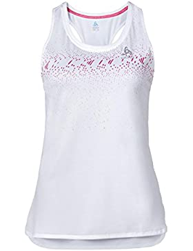 Mujer Camiseta de running Tank TEBE, mujer, color weiß mit Text, tamaño extra-large