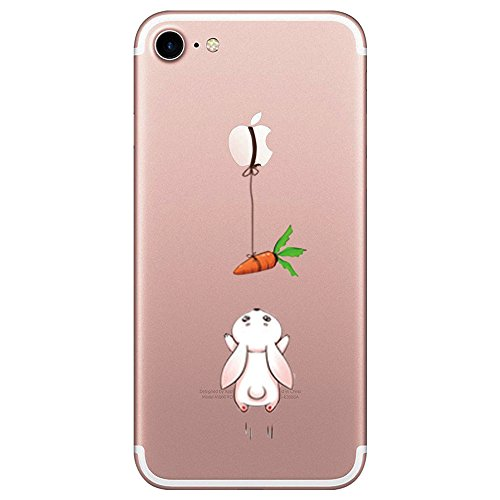 Iphone 7 custodia simpatico panda coniglio pinguino transparente silicone cover pacyer® tpu gel protettivo skin shell case per apple iphone 7 (4.7