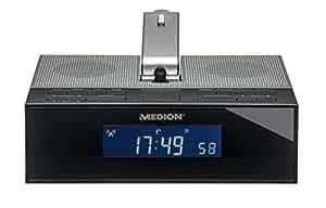MEDION LIFE E66245 (MD 84347) Funkgesteuertes Projektions-Uhrenradio, UKW/MW Radio, Wecken durch Radio oder Alarmton, Schlummerfunktion, Auto Snooze Funktion, 4 Weckprogramme, 50 Senderspeicher, silber
