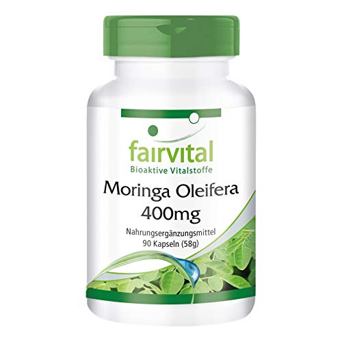 Prime Day Angebot! Moringa Oleifera Kapseln 400mg - HOCHDOSIERT - VEGAN - 90 Kapseln - mit über 90 Nährstoffen -