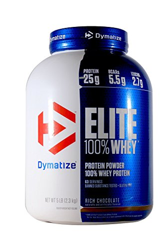Dymatize Nutrition Elite Whey Protein Powder - 5 lbs (Rich Chocolate)
