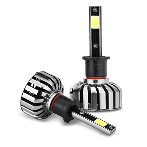 Preisvergleich Produktbild Motorcycle Light - Kingwo H3 HB2 80W 8000LM COB LED Headlight Kit Hi/Lo Beam Bulbs 6000K