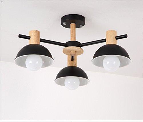 DELLT- Lampada a sospensione classica nordica semplice in legno ...