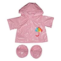 """Pink Raincoat with Boots Teddy Bear Outfit (16"""")"""