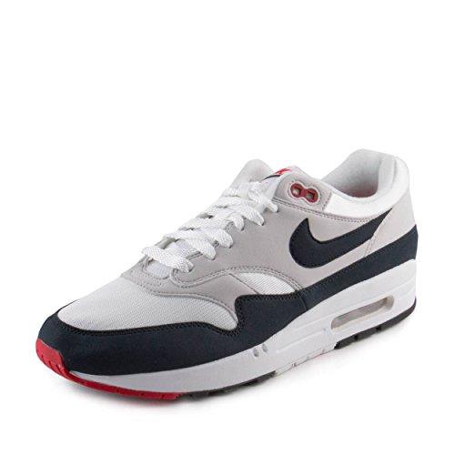 Nike Air Max 1 Anniversary Schuhe Sneaker Neu Men´s (EUR 41 US 8 UK 7, White/Dark Obsidian) (Air 1 Max Usa)