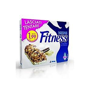Nestlé Fitness Cookies & Cream Barretta Cereali con Biscotti al Cacao e Gocce di Cioccolato Bianco - 94 gr