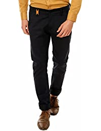Nimegh Royal Black Colored Cotton Casual Solid Trouser For Men's