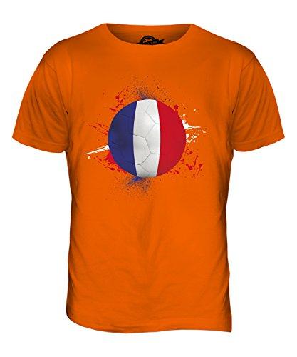 CandyMix Frankreich Fußball Herren T Shirt Orange