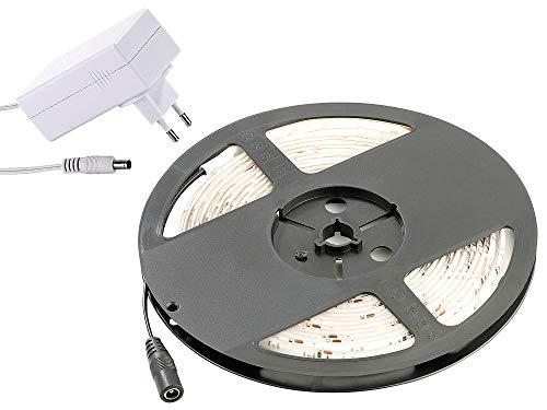 Pearl Outdoor-beleuchtung (Lunartec LED Strip Outdoor: LED-Streifen LE-500MA, 5 m, weiß, Outdoor IP65 & Netzteil (LED-Lichtband außen Beleuchtung))
