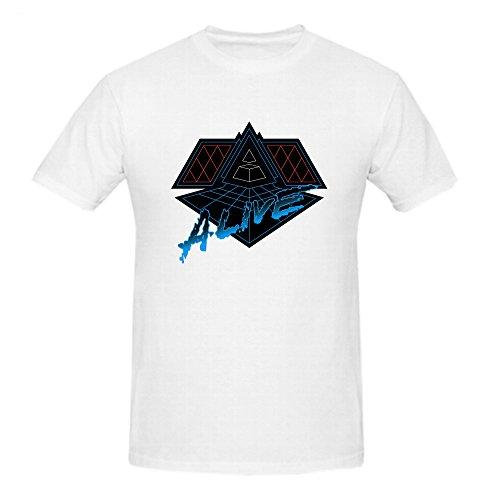 Daft Punk Alive 2007 Shirts 100 Cotton Men Round Neck Medium