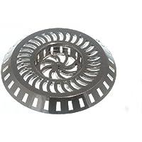 lavello doccia rifiuti filtro trappola di plastica cromata più ampia 80 millimetri 36 millimetri centro (100)